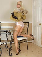 Nyloned Couger With Sheer Panties - Picture 7