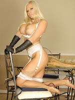 Nyloned Couger With Sheer Panties - Picture 13
