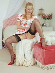 Nyloned Milf Michelle Plays Toys In The Bedroom - Picture 7