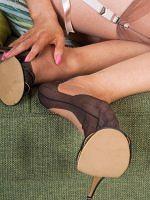 Brook Logan - Teen Feet Kinky In Vintage Nylons - Picture 5