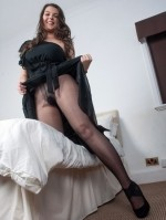 Sexy Pics 4 U- Victoria C – Large titty nylon tease! @ Pantyhose4u.net