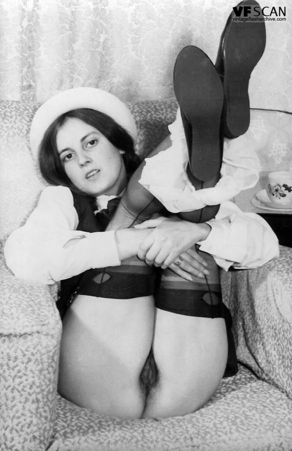 1960s vintage hairy pussy italian girl nudie reel 4